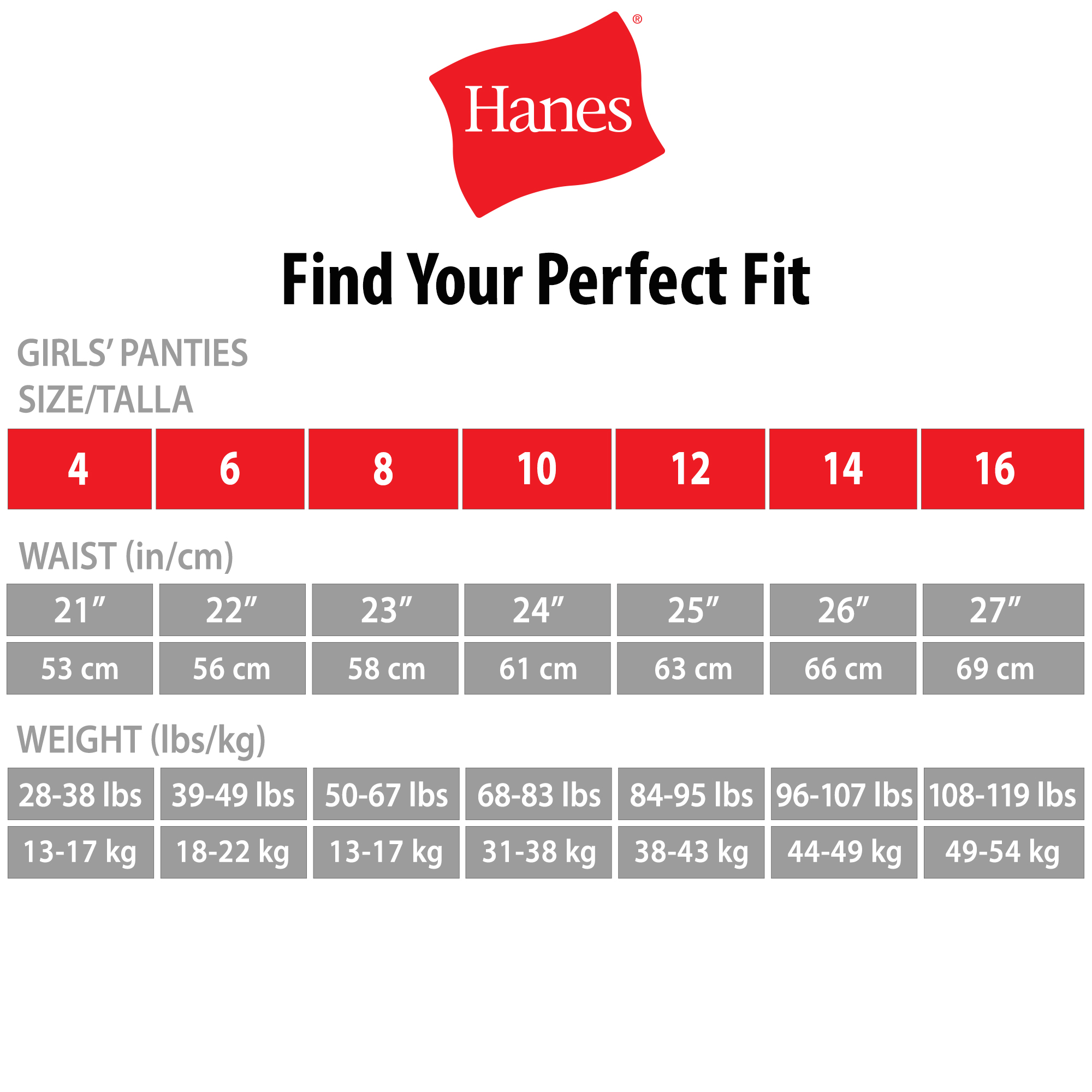 Hanes girls assorted no ride up comfortsoft cotton briefs 9 pack