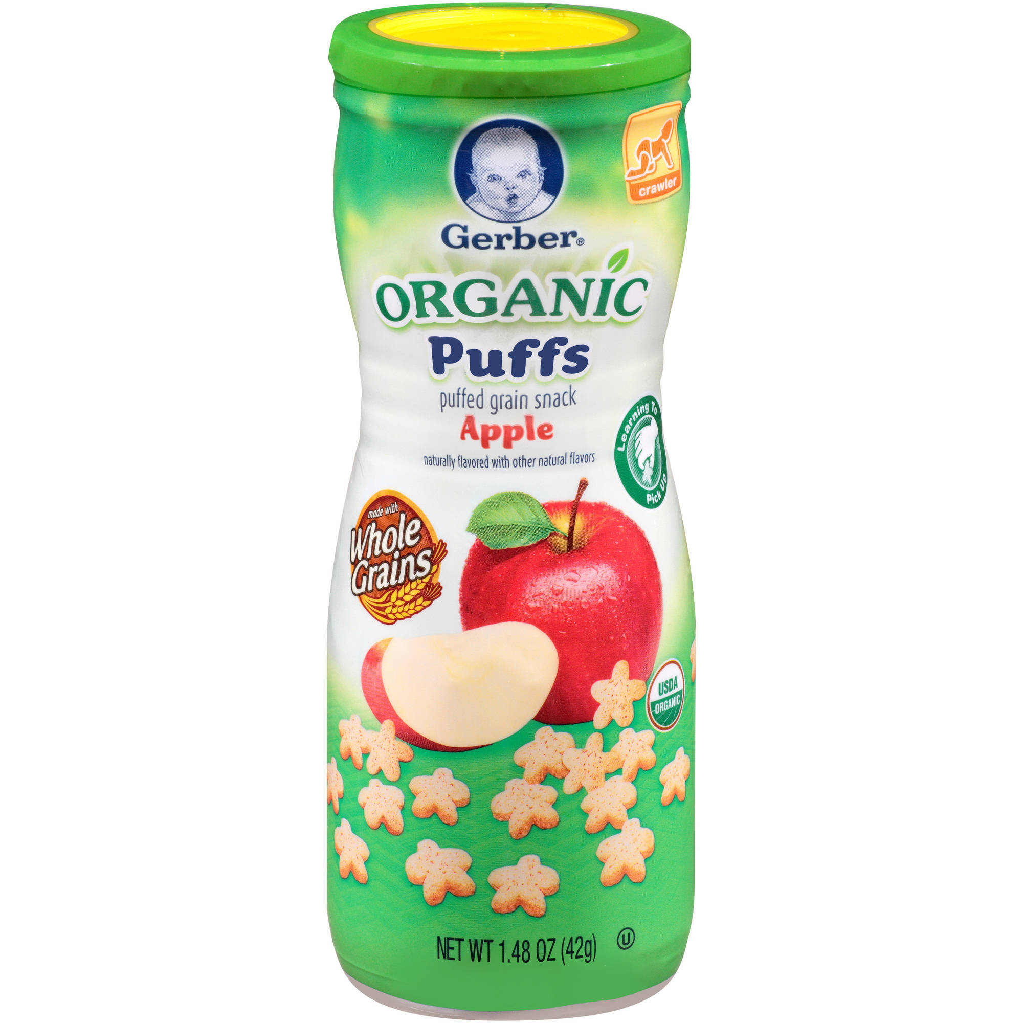Gerber Organic Puffs, Apple, 1.48 oz (Pack of 6) by GERBER GRADUATES ORGANIC PUFFS