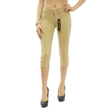 372ab86d11b03 JW Maxx - Colored Soft Skinny Stretch Moleton Capri Jeggings ...