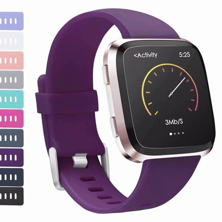 AdePoy For Fitbit Versa Strap bands, Adjustable TPU Replacement Sport Accessory Wristband for Fitbit Versa Small (Flex Sports Power Straps)
