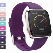 AdePoy For Fitbit Versa Strap bands, Adjustable TPU Replacement Sport Accessory Wristband for Fitbit Versa Small Large