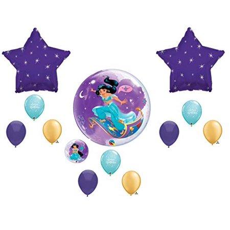 Jasmine Princess Aladdin Birthday Balloons Decoration Supplies