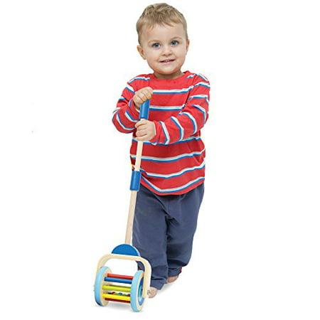 Imagination Generation Push-n-Pop Wooden Walking Toy Corn - Popper Toy