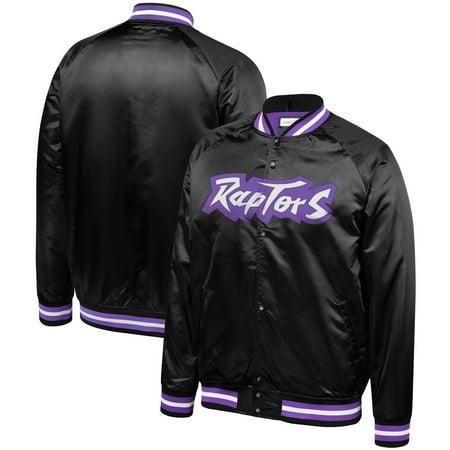 official photos fccbb 647c5 Toronto Raptors Mitchell & Ness Hardwood Classics Throwback Wordmark Satin  Jacket - Black
