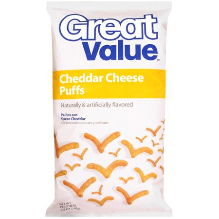Great Value Cheddar Cheese Puffs, 8.5 oz - Walmart.com