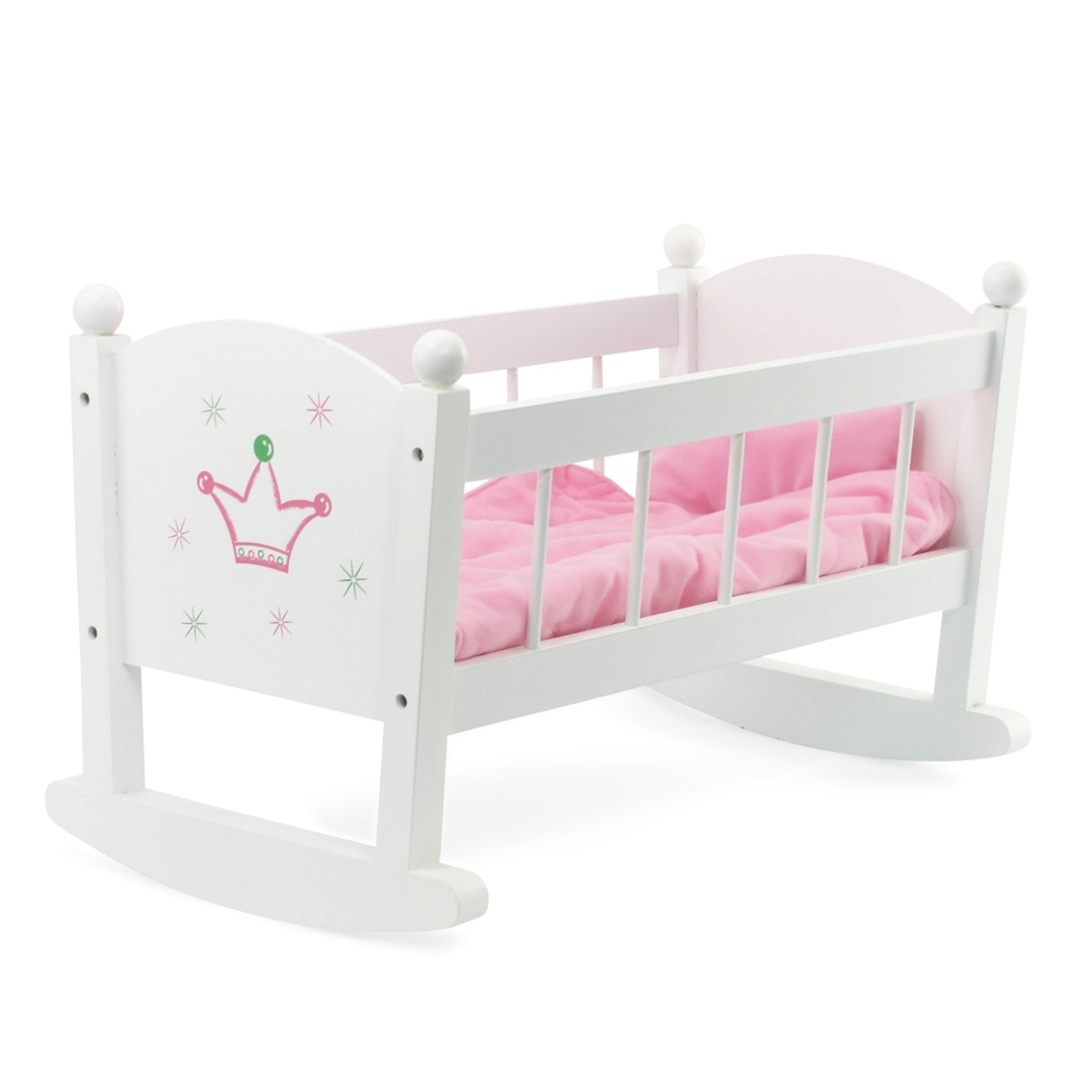 Baby Doll Cradle or Crib Rocking Furniture | Fits Baby Dolls and 18 Inch American Girl... by Emily Rose Doll Clothes