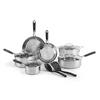 T-fal Expert Pro Stainless Steel Cookware Set, 12 piece Set