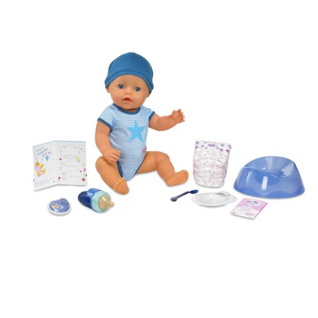 BABY born Interactive Boy Doll- Blue Eyes (Toddler Doll Body)