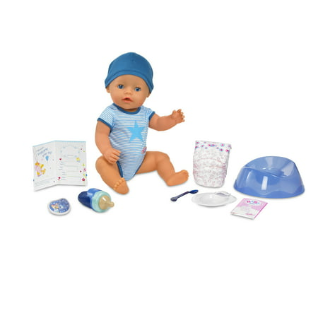 BABY born Interactive Boy Doll- Blue Eyes
