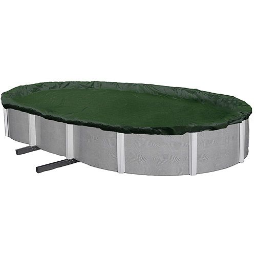 Blue Wave Silver 12-Year 12' x 24' Oval Above-Ground Pool Winter Cover