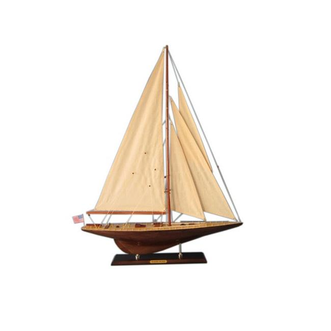 Handcrafted Decor J-Yacht-35-14 Wooden Whirlwind Limited Model Sailboat Decoration, 35 in. by Handcrafted Decor
