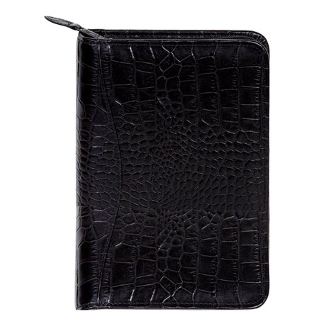 Scully Western Planner Crocodile Print Leather Weekly Zipper 5045Z-0