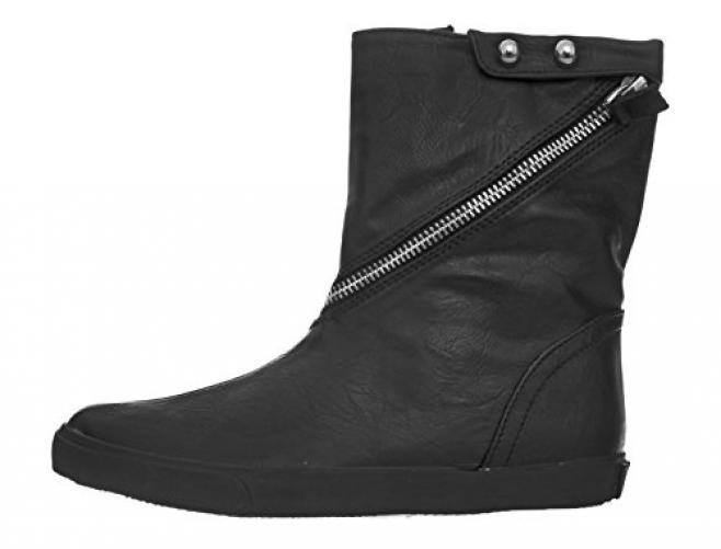 Amiana Girl's Casual Boot, Black Casual, 34 EU / 3 US