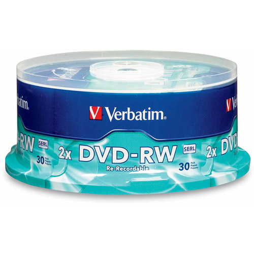 Verbatim DVD-RW 4.7GB 4x Branded Spindle, 30pk