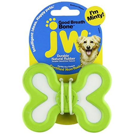 jw pet company good breath bone dog toy, medium (colors vary) new