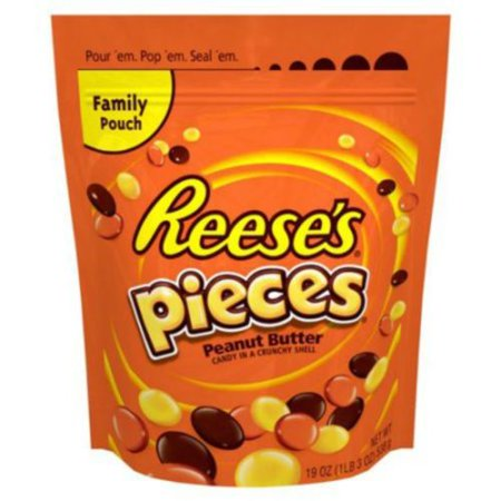 Reeses Pieces 30 oz Peanut Butter Candy Crunchy Shell Candy Bag - Reese Pieces Halloween Size