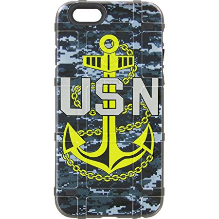 LIMITED EDITION - Authentic Made in U.S.A. Magpul Industries Bump Case for Apple iPhone 5/5s and SE (Navy Digi Camo, US Navy Anchor)