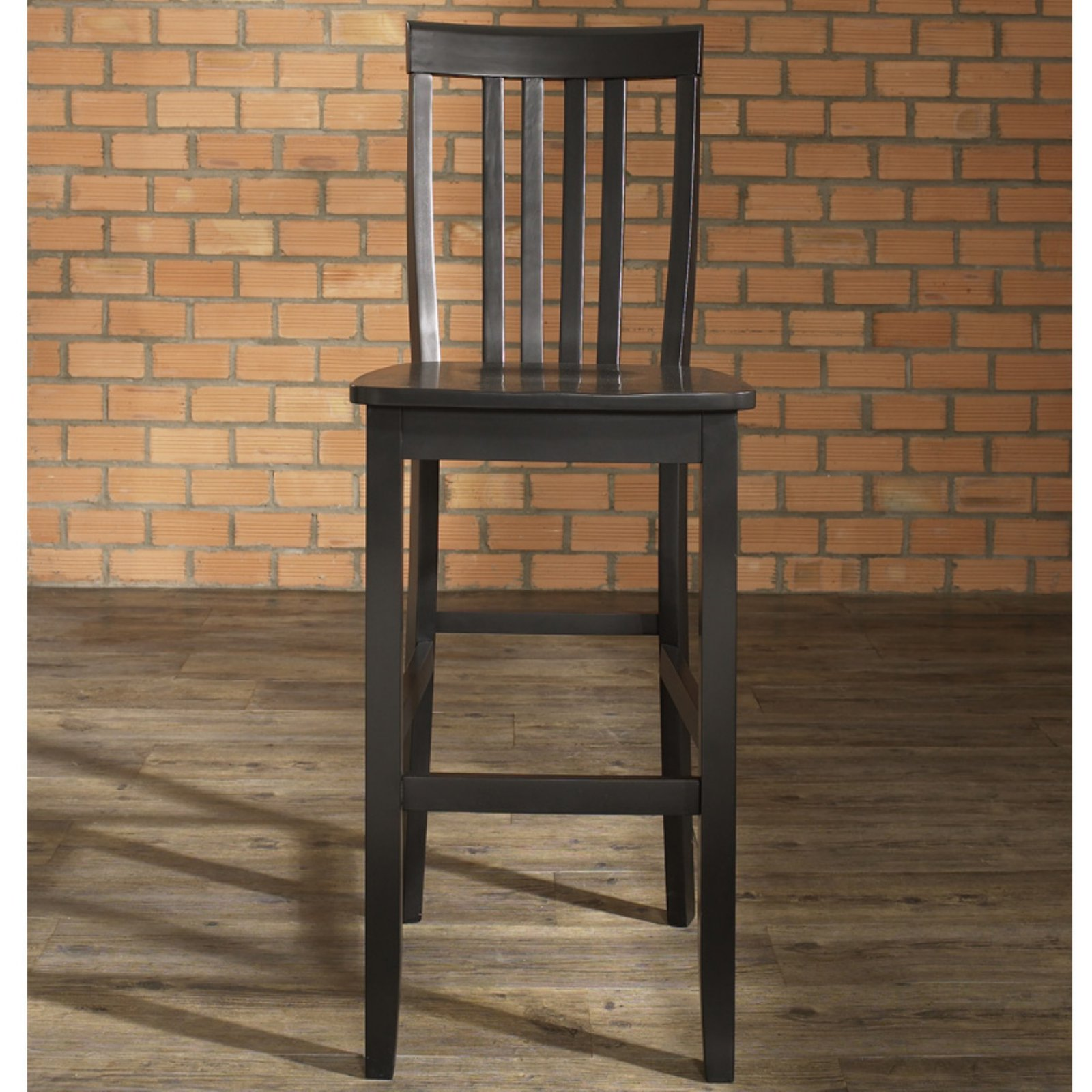 "Crosley Furniture School House Bar Stool with 30"" Seat Height, 2pk"