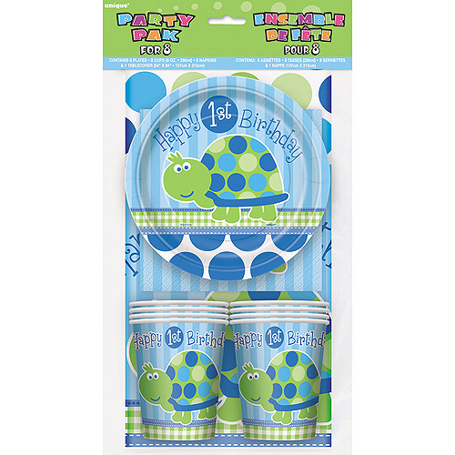 Turtle 1st Birthday Party Kit for 8 Walmartcom