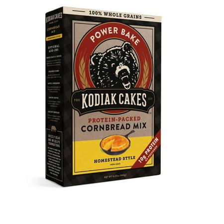 Kodiak Cakes - Protein-Packed Cornbread Mix Low White Cake Mix