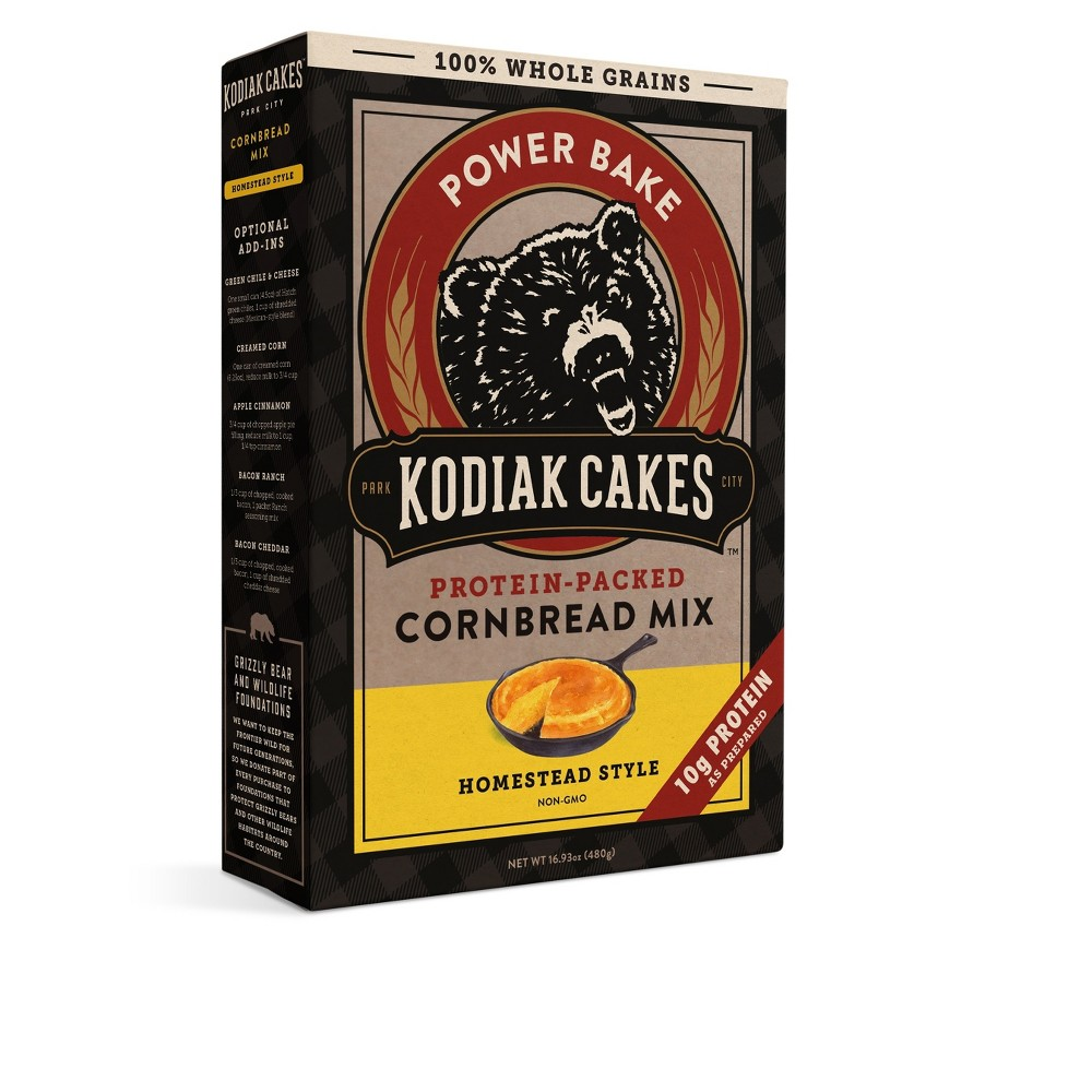 Kodiak Cakes - Protein-Packed Cornbread Mix (Pack of 4)