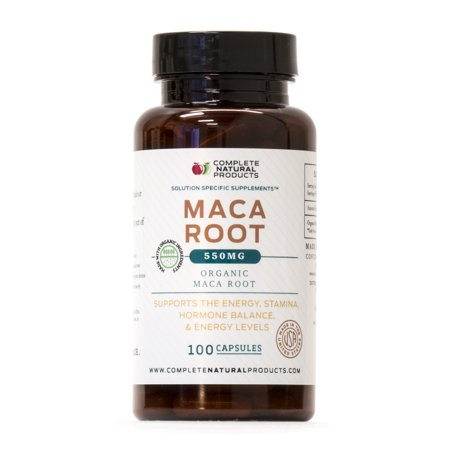 - Organic Maca Root Powder Capsules - 100 Pills, 485mg of Pure and Raw Red, Black, & Yellow Peruvian Ginseng