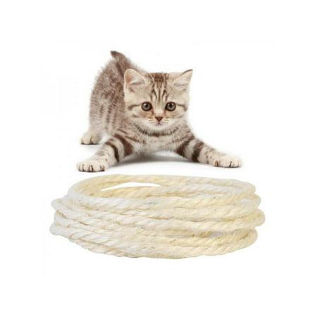 MarinaVida 3/5M Sisal Rope DIY Cat Scratch Board for Cat Claw Natrual Cordage Post Pet Toy