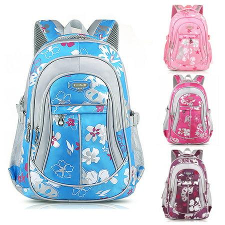 New Children Canvas Flower Backpack For Adults Boy Girl School Rucksack Bookbag - Schoolgirl Adult