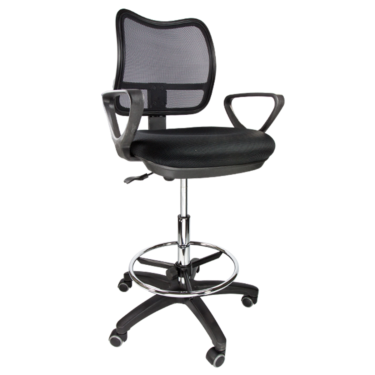 Drafting Chair Stool Armrest Ergonomic Mesh Adjustable Footring Arm Bank  Office   Walmart comDrafting Chair Stool Armrest Ergonomic Mesh Adjustable Footring  . Office Star Height Adjustable Drafting Chair With Footring. Home Design Ideas