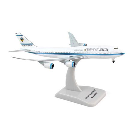 Hogan 500 Scale Die-Cast HG5507 1-500 State of Kuwait 747-8 REG No. 9K-GAA Flexed Wings