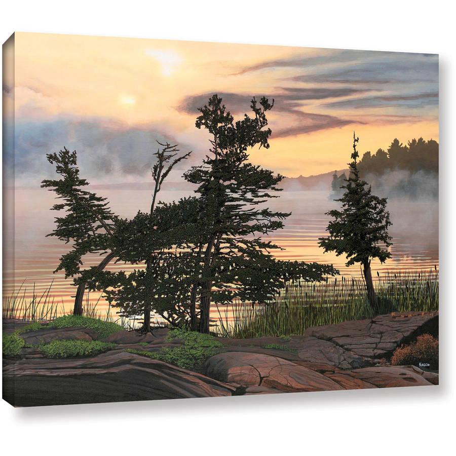 """ArtWall Ken Kirsch """"Auburn Evening"""" Wrapped Canvas"""
