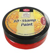 Viva Decor 119391236 3D Stamp Paint, Carmine Red Multi-Colored