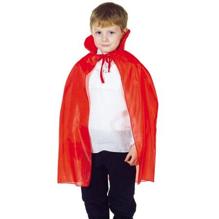 Taffeta Boys Child Red Cape Vampire Halloween Costume Accessory](Boys Vampire Cape)