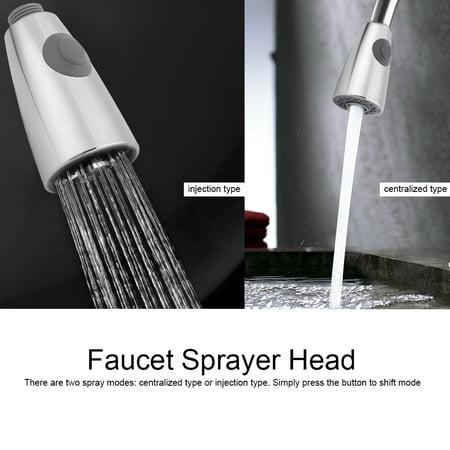 WALFRONT Tirez sur le robinet pulvérisateur cuisine salle de bain robinet douche pièce de rechange tête de pulvérisation, tête de pulvérisateur de robinet, pulvérisateur de robinet - image 1 de 9
