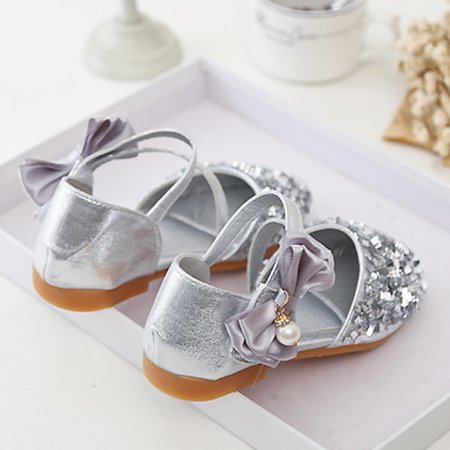Outtop Toddler Kids Girls Baby Fashion Princess Dance Leather Casual Single Shoes