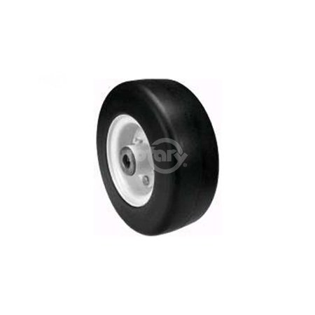 3-Piece Rim, Solid Foam Tire.  Open Cage Roller Bearing with Zerk Fitting.  Fits Toro Midsize Units.  Painted White.  Uses Rotary #8864 Tire & #8441 Wheel Bearing Kit.  (Painted (Best Paint To Use On Rims)