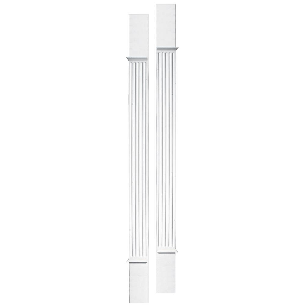 Pilasters in White Vinyl - Set of 2