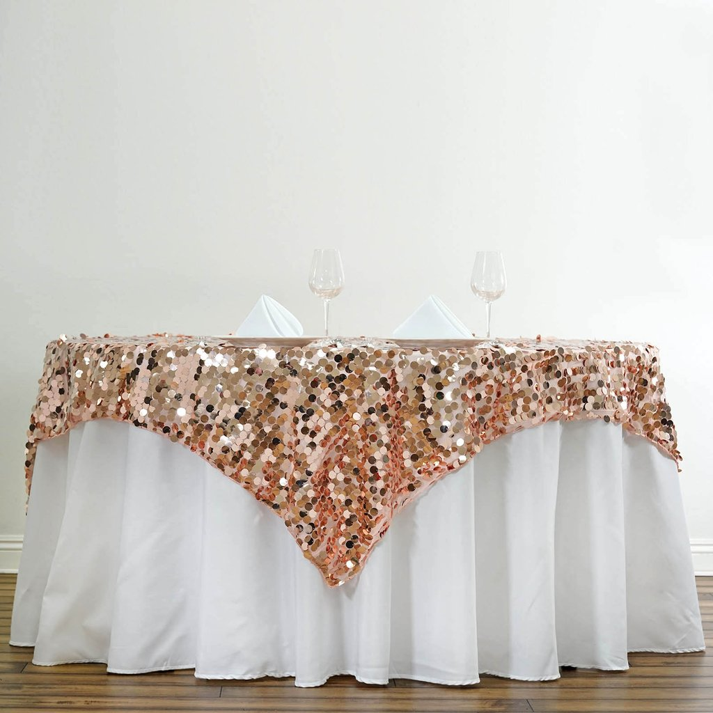 """BalsaCircle 72"""" x 72"""" Square Big Payette Sequin Table Overlays Wedding Party... by"""