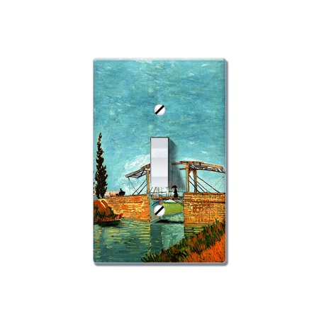 FINCIBO 1-Gang Toggle Wall Plate/Switch Plate Cover, Langlois Bridge At (Vans Of Great Bridge)