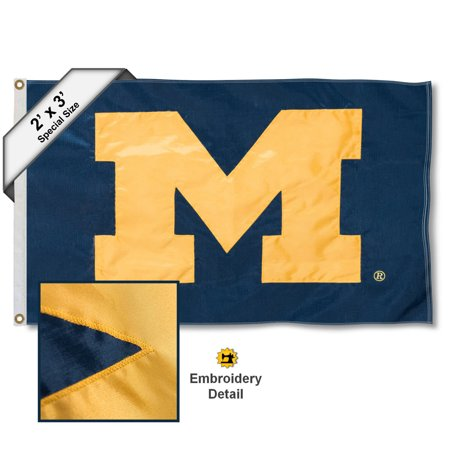 - Michigan Wolverines 2' x 3' Applique Flag
