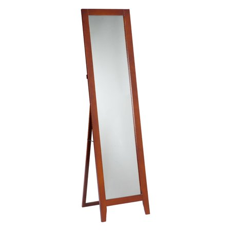 Paloma Brown Wood Frame Contemporary Rectangle Floor Standing Mirror 15 x (Brown Rectangle)