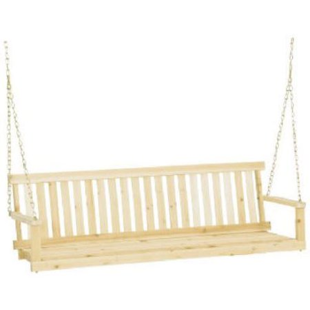 Swing Seat with Chains in Unfinished Cypress Jennings Traditional 5 Foot 400 lbs