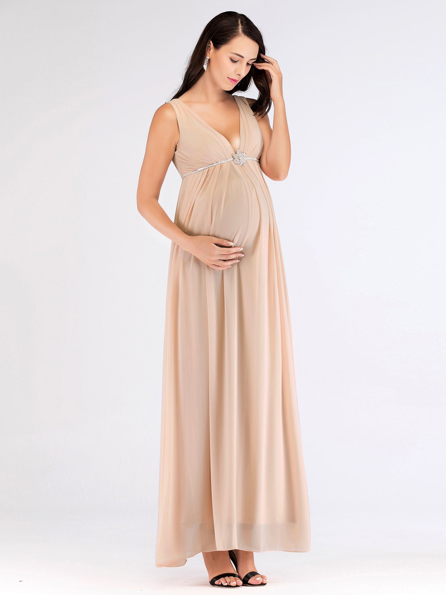 d61d7d1c7822 Ever-pretty - Ever-Pretty Womens Long Bridesmaid Wedding Party Dress  Pregnancy Baby Shower Photoshoot Gown for Women 07387 US 8 - Walmart.com