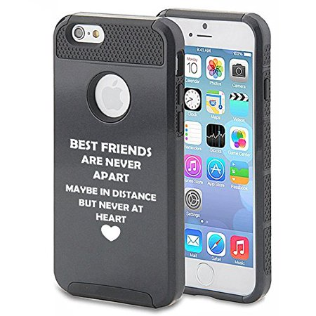 For Apple iPhone 7 Shockproof Impact Hard Soft Case Cover Best Friends Long Distance Love