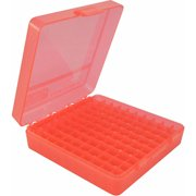 "MTM P-100 FLIP-TOP PISTOL AMMO BOX 1.3"" OAL RED POLY"