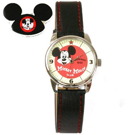 - Mickey Mouse Club Collectible Watch, F945511 , Special Packaging, Leather Strap