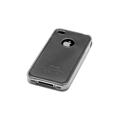 Insten Gel Matte Case w/stand For Apple iPhone 4/4S - Smoke - image 2 of 3