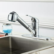 UBesGoo Pull-out Kitchen Sink Faucet - Single Handle Kitchen Faucet with Pull Down Sprayer Copper