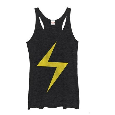 Marvel Women's Lightning Bolt Ms. Marvel Racerback Tank Top