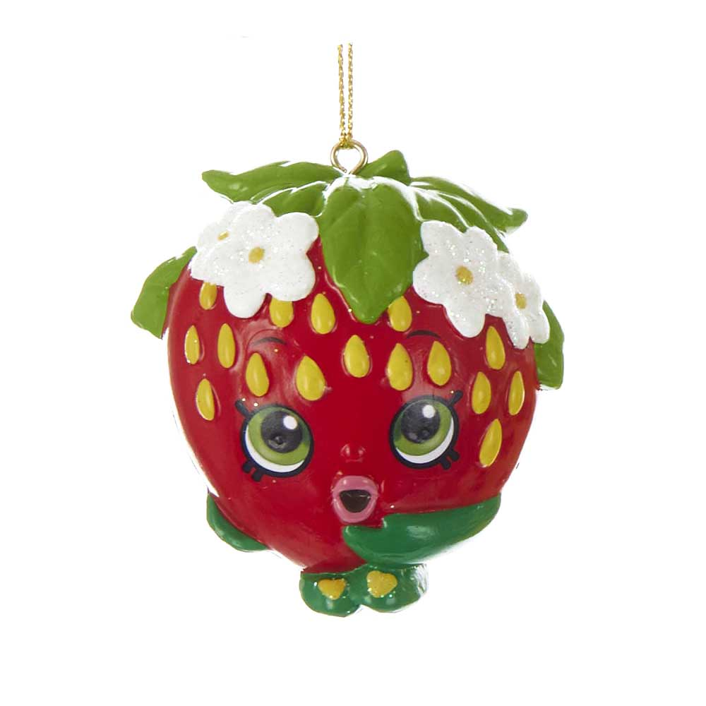 Shopkins Blow Mold Christmas Ornament Strawberry Kiss
